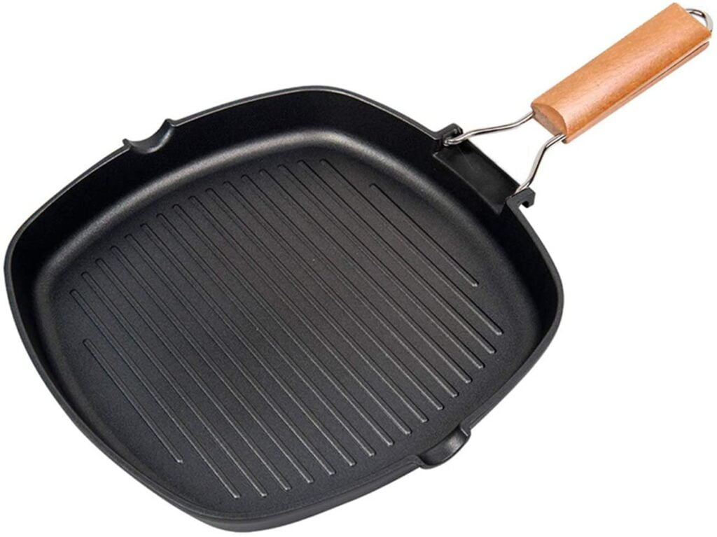 IAXSEE Non-Stick Carbon Steel Grill Pan